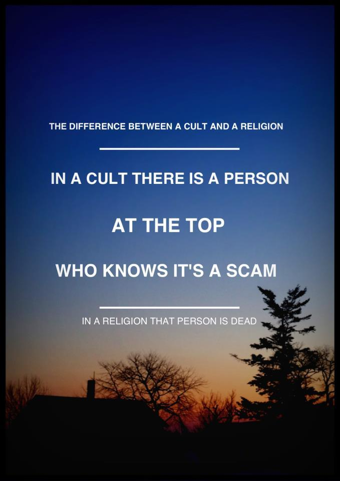 The Difference Between a Cult and a Religion